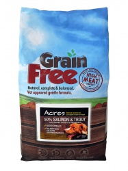 Acres Grain-Free Complete Dog Food with Salmon & Trout 12kg Bag